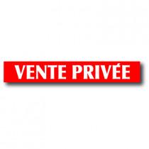 "Affiche ""VENTE PRIVEE"" L85 H12 cm"