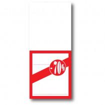 """Paquet de 250 étiquettes papier """"-70%"""" L52 H120 mm"""