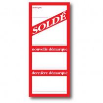"""Paquet de 250 étiquettes """"SOLDE"""" L52 H120 mm"""