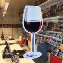 Verre de vin découpé L18 H47 cm