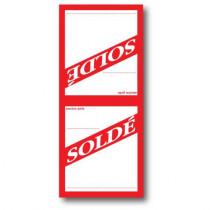 """Paquet de 250 étiquettes papier  """"SOLDE"""" L52 H 120 mm"""