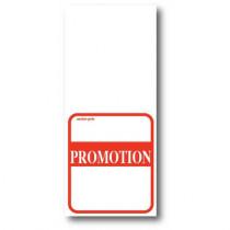 """Paquet de 500 étiquettes papier  """"PROMOTION"""" L52 H 120 mm"""