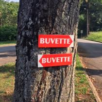 """Panneau  """"BUVETTE"""" L38 H12,5 cm"""