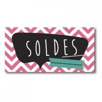 """Sticker adhésif """"SOLDES"""" L80 H40 cm"""