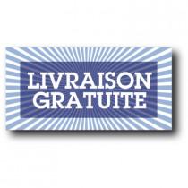 """Sticker adhésif """"LIVRAISON GRATUITE"""" L80 H40 cm"""