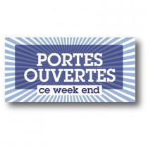 """Sticker adhésif """"PORTE OUVERTE"""" L80 H40 cm"""