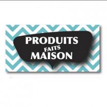 """Sticker adhésif """"PRODUITS FAITS MAISON"""" L80 H40 cm"""
