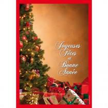 Panneau Joyeuses Fêtes et Bonne Année L70 H100 cm