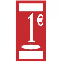 """Panneau """"1 €"""" L19 H37 cm"""