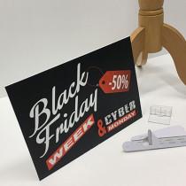 panneau PVC mat BLACK FRIDAY L35 H25 cm