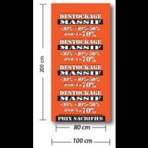 PANORAMIQUE VITRINE personnalisable L100 H 200 cm