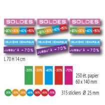 Kit de 12 affiches, 250 etiquettes et 315 stickers