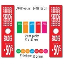 """Kit de 2 affiches mannequin""""SOLDES"""" et 315 stickers"""