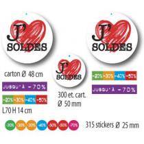KIT 4 affiches, 2 cartons, 300 étiquettes, 300 stickers