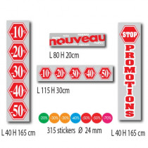KIT de 4 affiches PROMOTIONS