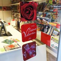 "3 cartons ""St Valentin"" L24 H80 cm"