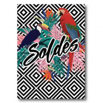 Affiche  SOLDES tropical L50 H70cm