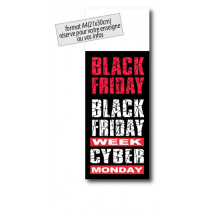"Panneau ""BLACK FRIDAY CYBER MONDAY"" L30 H80 cm"