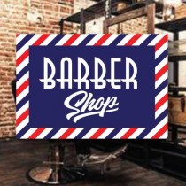 Sticker adhésif BARBER SHOP  L50 H35 cm