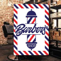 Sticker adhésif BARBER SHOP  L35 H50 cm