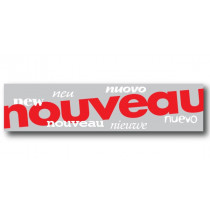 """Affiche  """"nouveau"""" L82 H20 cm"""
