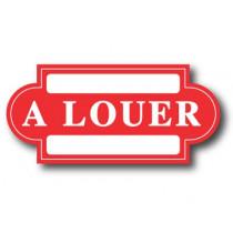 """Carton """"A LOUER"""" L47 H22 cm"""