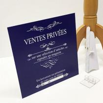 """panneau """"VENTES PRIVEES"""" L33 H33cm"""