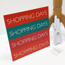 panneau  SHOPPING DAYS  L33 H33cm