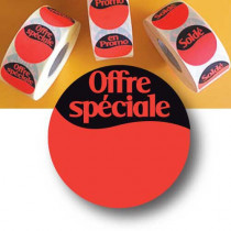 "1000 Stickers ""OFFRE SPECIALE"" 40 mm"