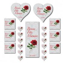 """Kit de 7 pièces """"Bonne fête maman"""""""