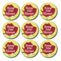 """12 Planches de stickers """"Bonne Fête Maman"""""""
