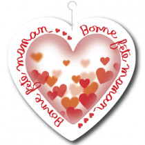 "Coeur ""Bonne fête Maman"" L26,5 H25 cm"