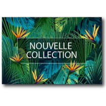 "Affiche ""NOUVELLE COLLECTION""  L56 H27 cm"