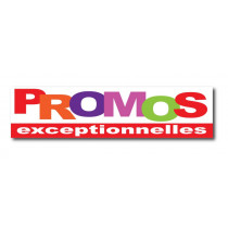 """Sticker adhésif """"PROMOS EXCEPTIONNELLES"""" L100 H25 cm"""