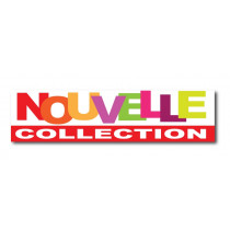 "Sticker adhésif ""NOUVELLE COLLECTION"" L100 H25 cm"