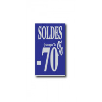 "Affiche ""SOLDES jusqu'à -70%"" L40 H72 cm"