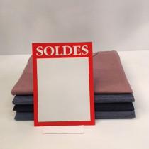 """Paquet de 50 étiquettes carton """"SOLDES"""" L145 H200 mm"""