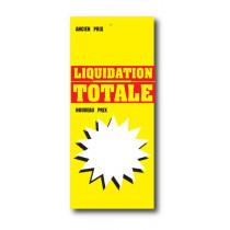 Paquet de 100 étiquettes papier  LIQUIDATION TOTALE L60 H140 mm