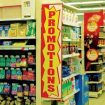 """Affiche """"PROMOTIONS"""" L40 H172 CM"""