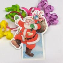 """Paquet de 20 étiquettes """"Père Noël"""" L11 H16 cm"""