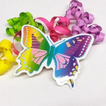 """Paquet de 20 étiquettes """"Papillon"""" L14 H11 cm"""