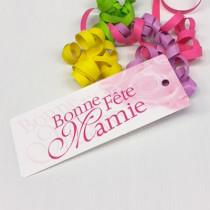 """Paquet de 20 étiquettes """"Bonne Fête Mamie"""" L185 H70 mm"""