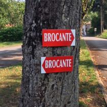 """Panneau  """"BROCANTE"""" 2 L38 H20,5 cm"""