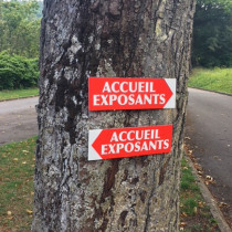 """Panneau  """"ACCUEIL EXPOSANTS"""" L38 H12,5 cm"""