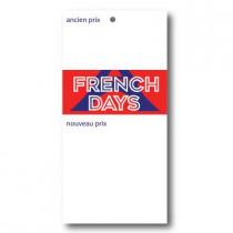 """Paquet de 100 étiquettes""""FRENCH DAYS"""" L60 H135mm"""