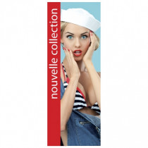 "Affiche ""NOUVELLE COLLECTION"" L35 H95 cm"