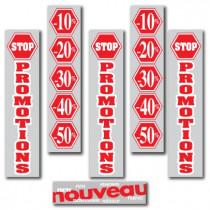 """KIT de 6 affiches """"STOP PROMOTIONS"""""""