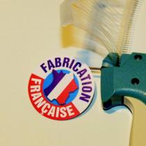 """Paquet de 50 étiquettes carton pelliculé  """"FABRICATION FRANÇAISE"""" L50 H50 mm"""