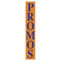 """Affiche """"PROMOS"""" L28 H168 cm"""