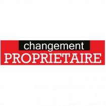 """Affiche """"changement PROPRIETAIRE"""" L168 H40 cm"""
